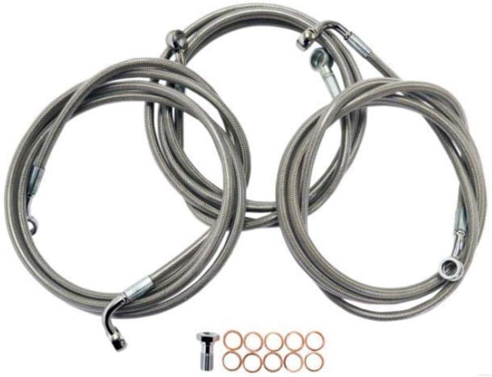 Ape Hangers LA8151B13 LA Choppers Stainless Steel Brake Line Kit 12-14in