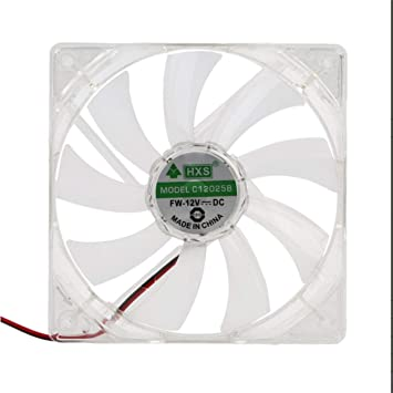 Ballylelly PC Computer Fan Quad 4 LED Light 120mm PC Computer Case ...