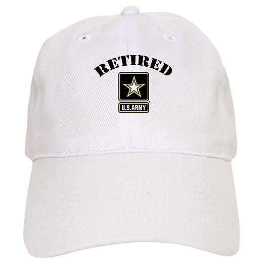 CafePress - Retired U.S. Army Soldier - Baseball Cap with Adjustable  Closure 03902c5af257