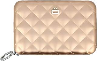 Ögon 'Quilted Zipper' Kartenetui Kreditkartenetui Geldbörse Aluminium RFID-safe Rose Gold - by Moda Store