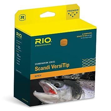 Río, diseño escandinavo línea de pesca con mosca Spey versitip flotador 4 conectores de 15 pies: Amazon.es: Deportes y aire libre
