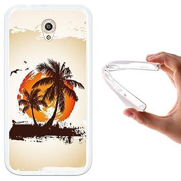 WoowCase Funda Vodafone Smart Prime 7, [Vodafone Smart Prime 7 ] Funda Silicona Gel Flexible Palmeras Paraíso Tropical, Carcasa Case TPU Silicona - ...