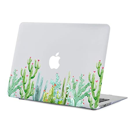 wholesale dealer 7531b 0b077 MacBook Air 13 inch Case,Cute Cactus Case for MacBook Air 13 inches  Model:A1466/A1369, Rubberized Soft-Touch Matte See Through Clear Hard Shell  Case ...