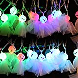 Halloween Outdoor Decorations String Lights,KISENG Halloween Ghost String Light 16 LEDs 4M Plugged Fairy Lamp for Party,Bar