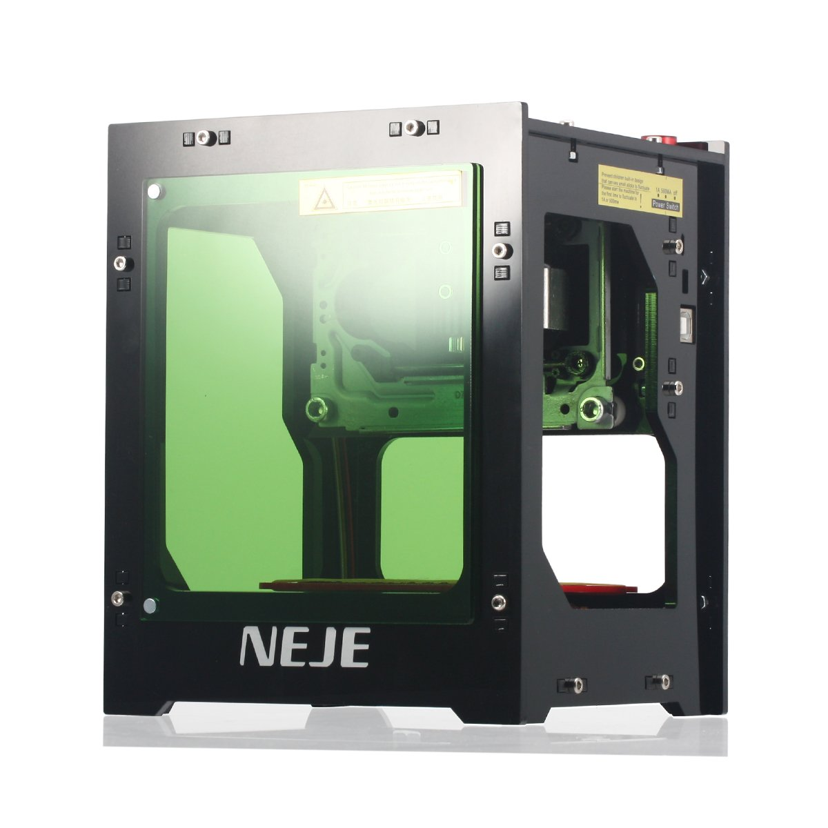 NEJE Laser Engraver Printer 1000mW 490x490 Pixel USB Mini Engraving Machine Dual USB Socket Acrylic Filter with Magnetic Suction One-Click Operation for Wood Paper DIY Design
