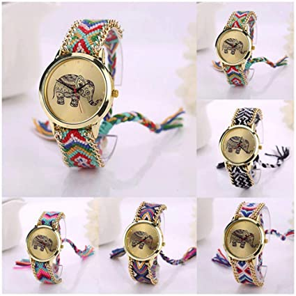 Famous Brand Women Watches Fashion Design Elephant Leather Bracelet Watches Casual Wrist Watches Ladies Clock relojes