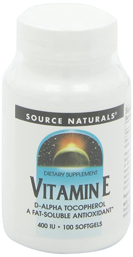 Source Naturals Vitamin E 400IU, Fat-Soluble Antioxidant, 100 ...