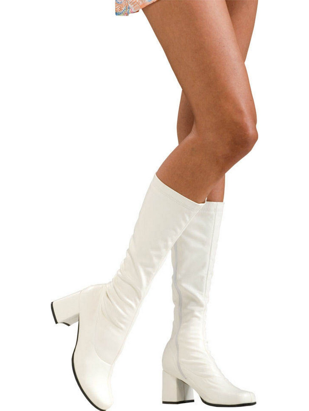 Secret Wishes Go-Go Boots, White, Medium by Secret Wishes