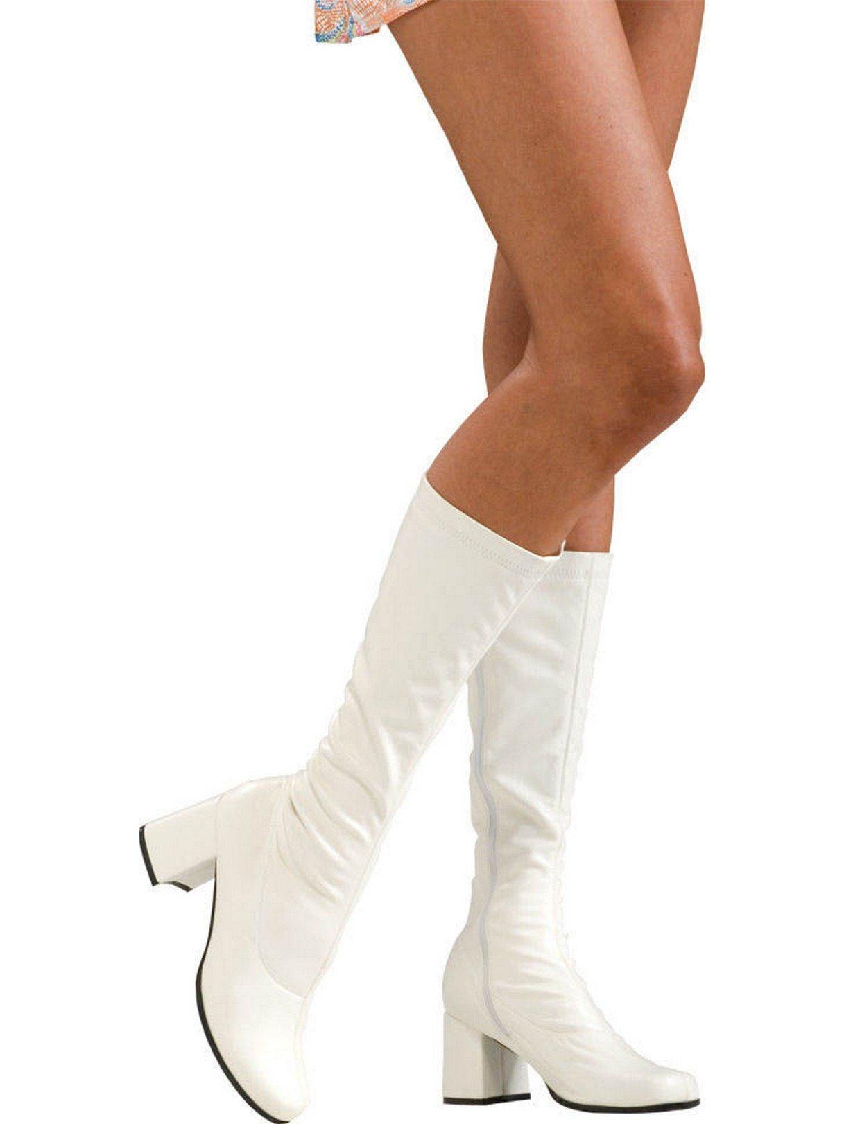 Secret Wishes Go-Go Boots, White, Medium