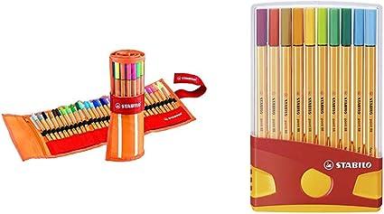 con tratto da 0,4mm Stabilo 8820-03 Point 88 ColorParade 20 Colori