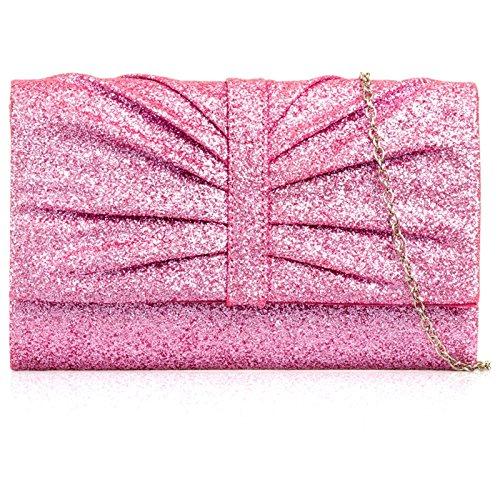 Xardi London Sparkle donne frizione borsa da sposa da donna sera borsetta per addio al nubilato Pink