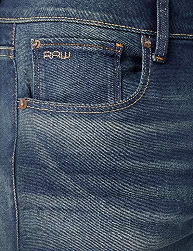 6090 Slim Jeans moyen 071 star G Herren 3301 Blauâge Raw IEWH29D