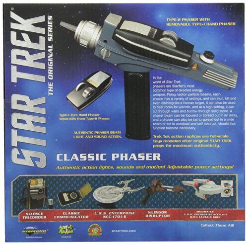 DIAMOND SELECT TOYS Star Trek: The Original Series Black Handle Phaser - http://coolthings.us