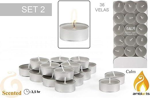 Pack 36 Velas aromáticas pequeñas - Modelo Calm: Amazon.es: Hogar