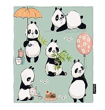 Amazon.com: Moslion - Manta de panda, diseño de animales con ...