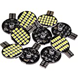 10x Super Bright 921 194 T10 LED Bulb, Warm White 12V 24-SMD Wedge Lamp For Iandscaping Boat RV Trailer Camper 5th wheel Interior Light (Pack of 10)