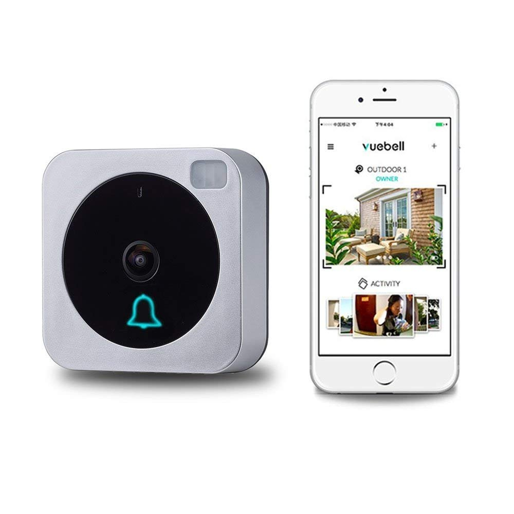[Updated Version] Netvue WiFi Video Doorbell, Door Chime with  Real-Time,Two-Way Audio, PIR Motion Detection, and Night Vision, Include  Power Adapter,