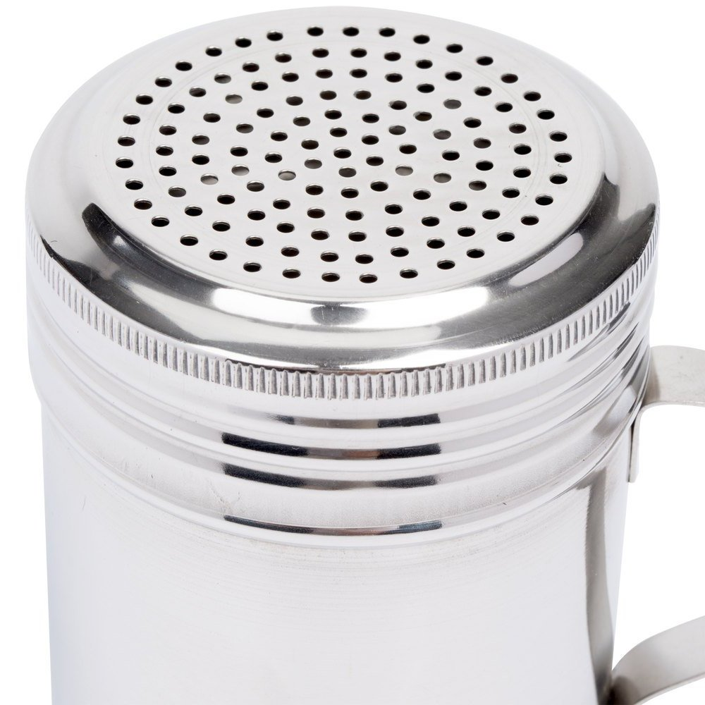 (Set of 12) 10 Oz Stainless Steel Dredge Shaker with Handle, Spice Dispenser for Cooking/Baking by Tezzorio by Tezzorio (Image #4)