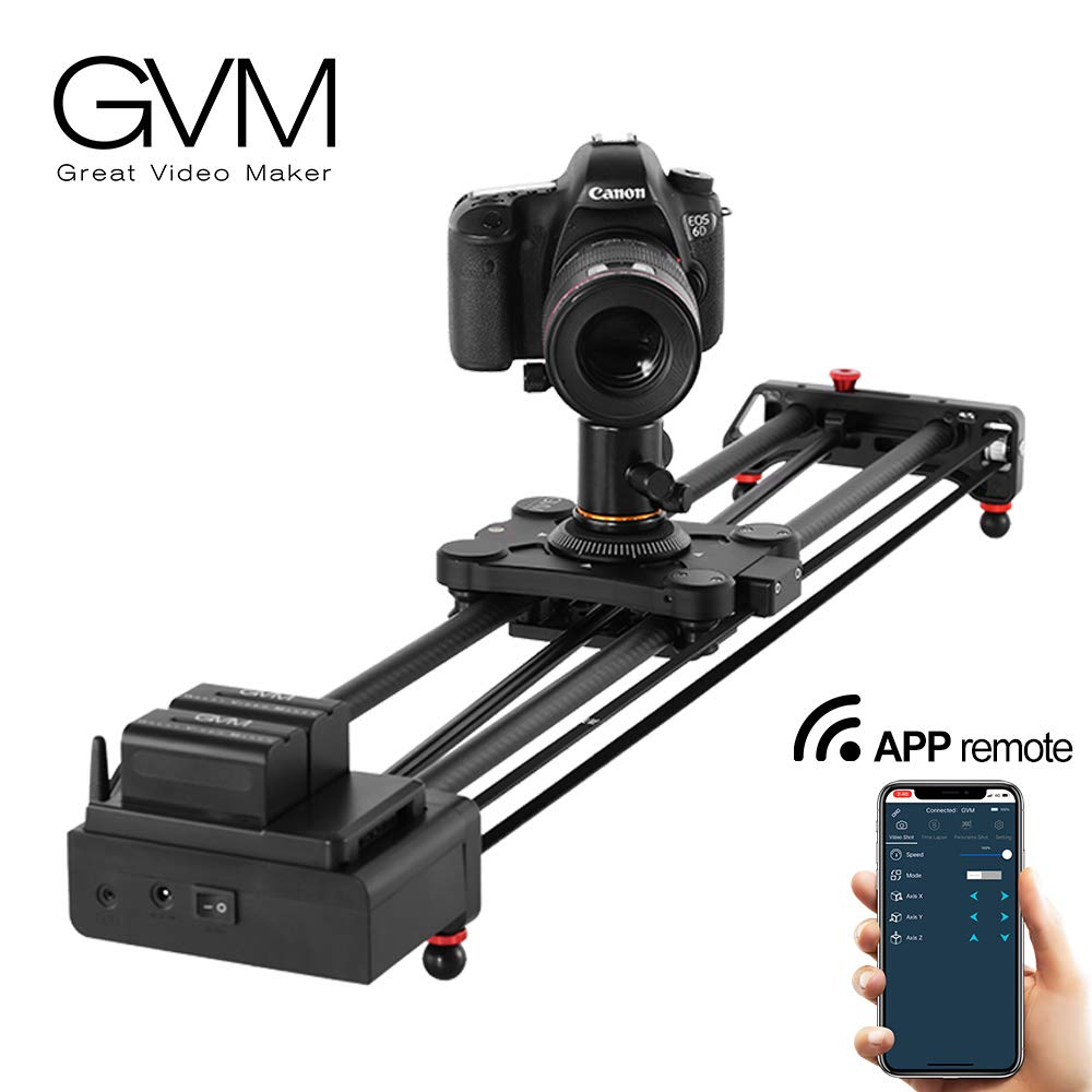 GVM Wireless Motorized Camera Slider Camera Dolly Electronic Video Slider Auto Loop Track System Shooting Equipped with Bluetooth Controller Tracking Shooting by GVM Great Video Maker