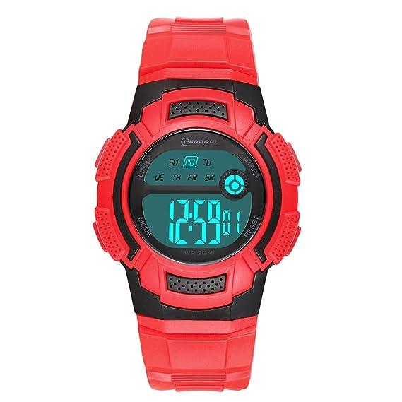 minorista online 8c2f4 5256c Reloj Digital Juvenil, para niñas, Resistente al Agua, Reloj ...