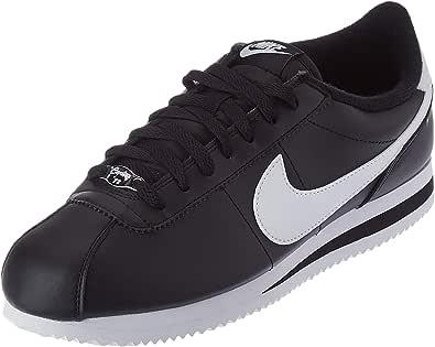 Zapatillas de piel Nike Cortez Basic, para hombre , Black / Metallic Silver-white, 9 D(M) US