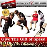SPORTSPEED (3 in 1 Kit) Resistance Harness + Speed Hand Weights + Agility Ladder