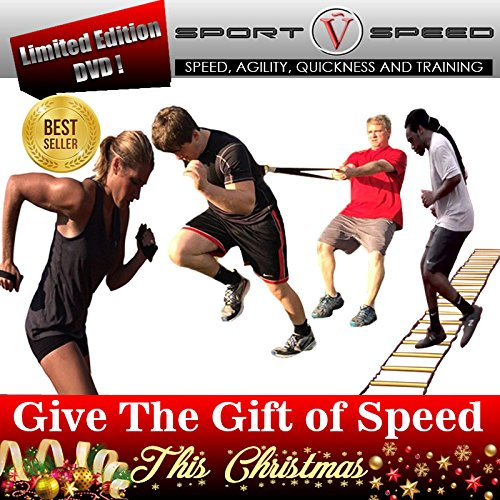 SPORTSPEED (3 in 1 Kit) Resistance Harness + Speed Hand Weights + Agility Ladder by SPORTSPEED