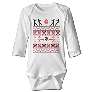 zombie christmas sweater funny toddler baby long sleeve babys rompers jumpsuit babysuit