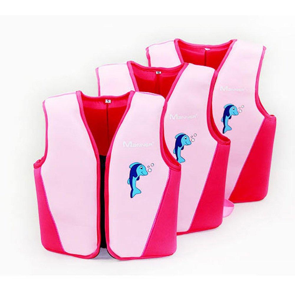 KarcライフジャケットKidsネオプレンUV保護Swim Vestフローティング機器 B07CHFLJCH M (Chest: 25.9 inch, Fit 3-6 Old Children) ピンク ピンク M (Chest: 25.9 inch, Fit 3-6 Old Children)