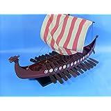"Viking Drakkar 24"" - Longship Model Boat Vessel - Nordic Viking Vessel - Wooden Model Boat - Brand New - Sold Fully Assembled - Not a Model Ship Kit"