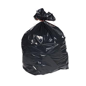 Thali Outlet® - 200 bolsas de basura negras de alta ...