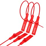 Geentai 100PCS Red Plastic Security Tags Numbered