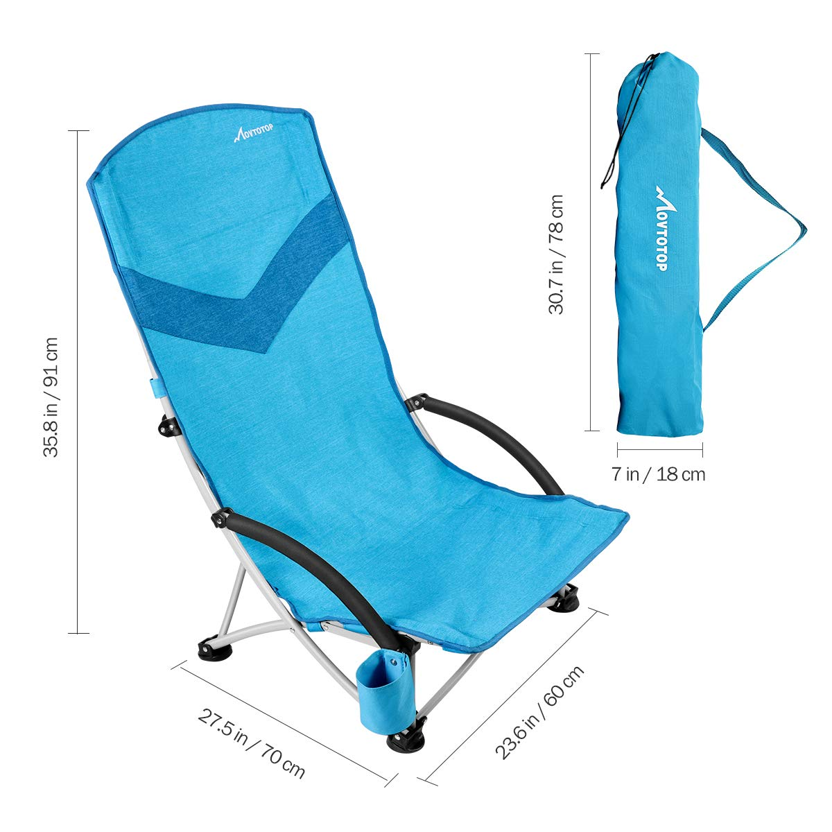 Movtotop Movtotop Folding Beach Chair Backpack Portable