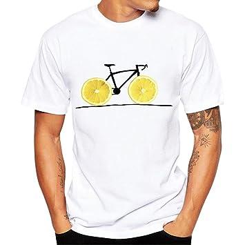 Camisas Hombre Manga Corta, Amlaiworld Camisetas Hombre Mujeres Impresión Tees Camisa de Manga Corta Camisetas