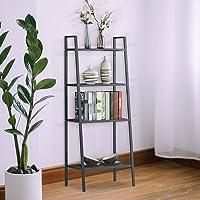 4 Tier Ladder Shelf Unit Bookshelf Bookcase Book Storage Display Rack Stand Black