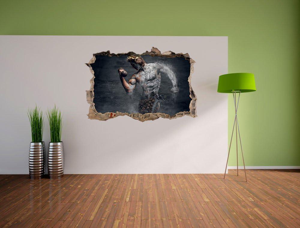 Wand- oder T/üraufkleber Format: 62x42cm Wandsticker Wandtattoo Wanddekoration antiker m/ännlicher Sportler Wanddurchbruch im 3D-Look