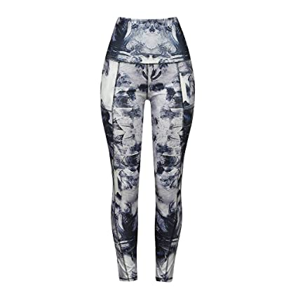 Amazon.com: Zcxaa Soft Women High Waist Wide Pants Gym Sexy ...