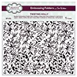 Sue Wilson EF-072 Embossing Folder 8 x 8 - Twisting Holly by Creative Expressions