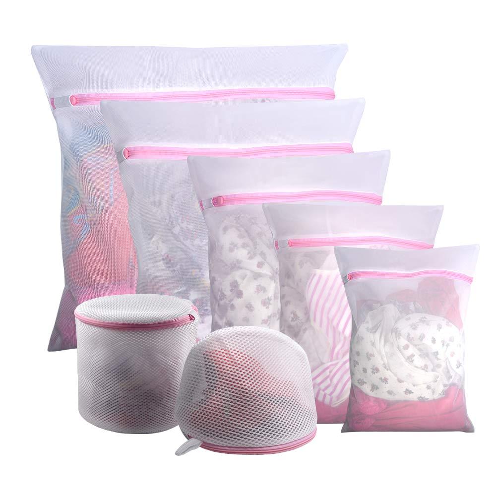 Amazon.com: Gogooda 7 piezas bolsas de malla para ropa sucia ...