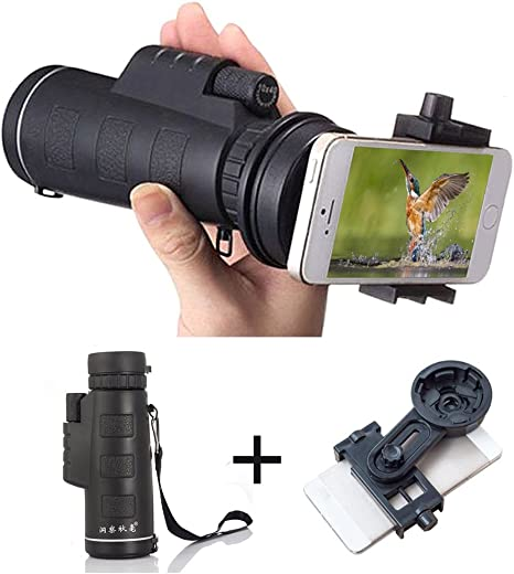 AYAMAYA 10x40 Universal Dual Focus Monocular Telescope and ...