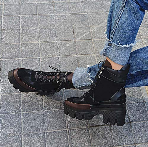 inverno Stivali 2018 piattaforma autunno da Nero moto donna moda Stivali da SHINIK neve nuovi PqXwdP