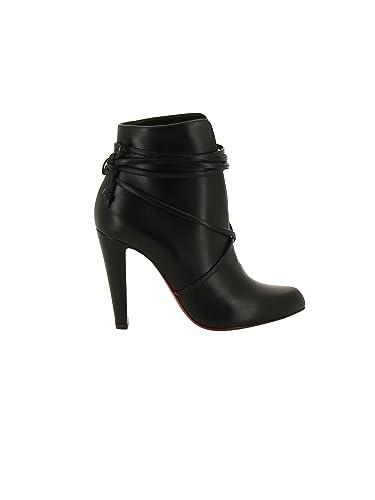 big sale 05cec 7d7e0 Christian Louboutin Women's 3170418Bk01 Black Leather Ankle ...