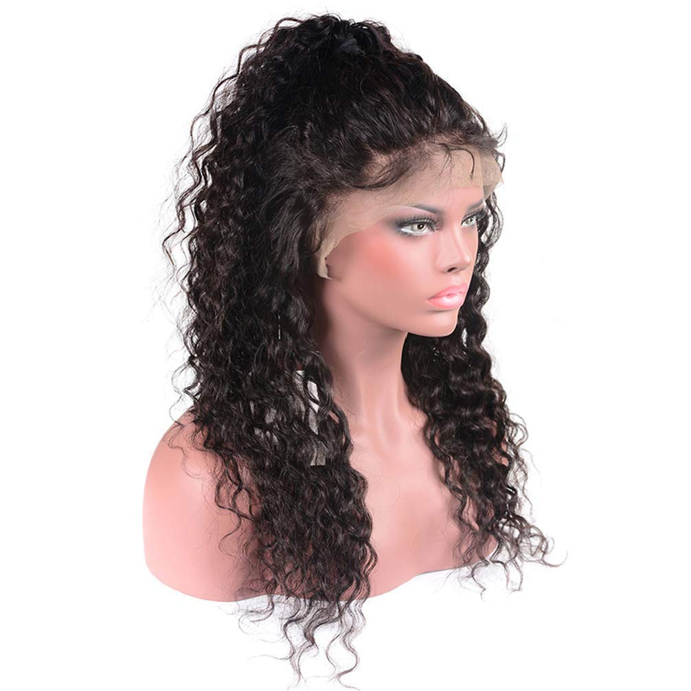Amazon.com : NEWNESS Natural Black Lace Front Wigs Human Hair With Baby  Hair Brazilian Water Wave Wet and Wavy Human Hair Wigs For Black Women 150%  ...