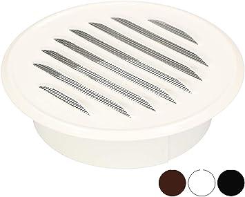 100 mm, chapa de zinc color blanco KOTARBAU Rejilla de ventilaci/ón