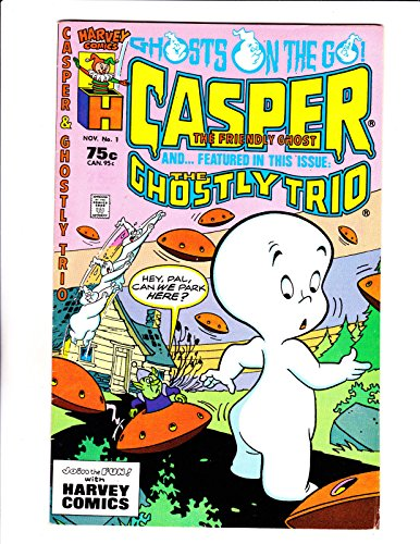 Casper amp; Ghostly Trio No11987 Flying Saucers Cover :