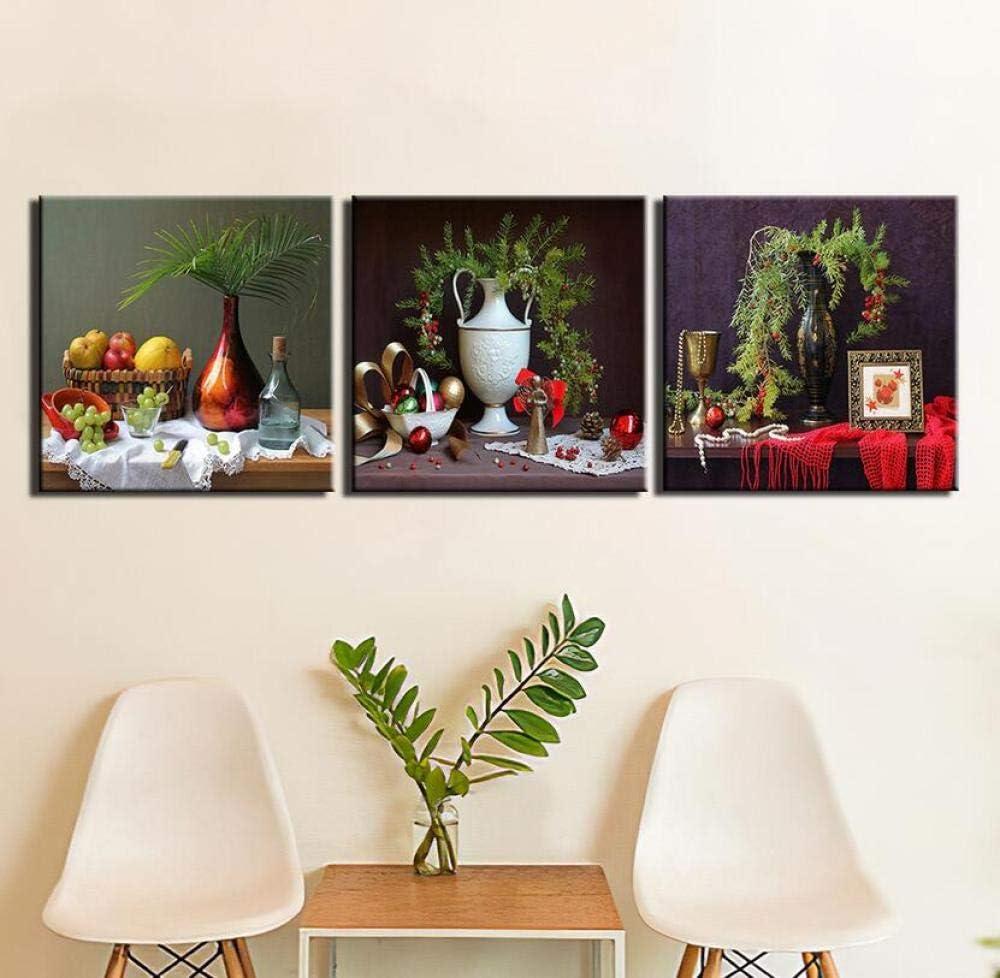 AMDPH Cartel Moderno 3 Piezas Bodegones Cuadros Pared Arte Lienzo Pintura Impresiones Decorativo Colgante Pintura Tríptico Sala De Estar Dormitorio Oficina Mural,A3