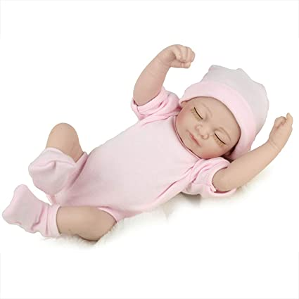 Reborn Newborn Baby Realike Handmade Lifelike Silicone Vinyl Weighted Alive Doll