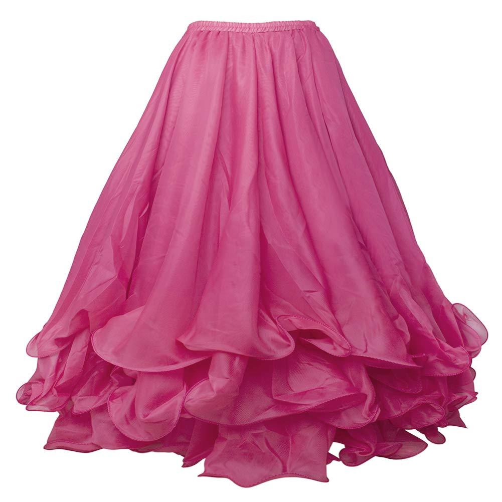 BellyLady Belly Dance Full Skirt Chiffon Tiered Maxi Dress Tribal Gypsy Costume