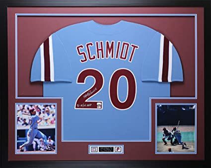 757dd3a3acb Image Unavailable. Image not available for. Color  Mike Schmidt Autographed  Signed Memorabilia 80 Nl Ws MVP   Framed ...