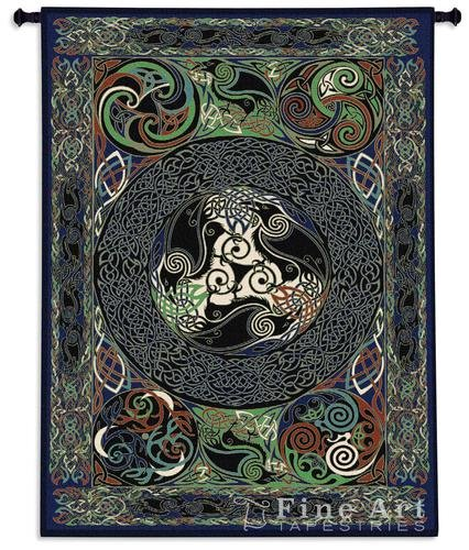 Fine Art Tapestries ''Ravens Panel'' Wall Tapestry